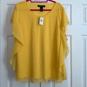 Yellow blouse.